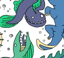 Deep sea monsters -coloured Sticker
