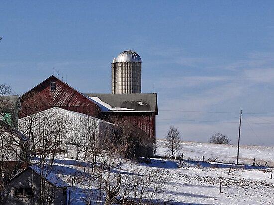 Peaceful winter day on the farm by vigor