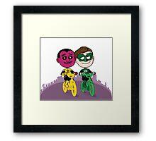 Sinestro & Hal Framed Print