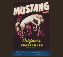 Vintage Advertising Mustang Vegetables by Vana Shipton