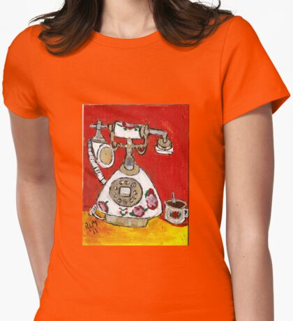 Telephone & Tea Womens Fitted T-Shirt
