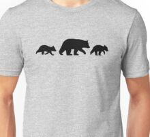 Black Bear with Cubs Unisex T-Shirt