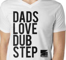 Dads Love Dubstep (black) Mens V-Neck T-Shirt