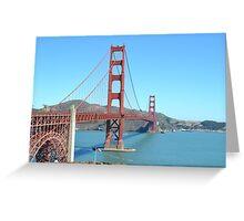 San Fran Bridge Greeting Card