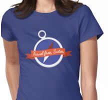 Travel Free, Sister Womens Fitted T-Shirt