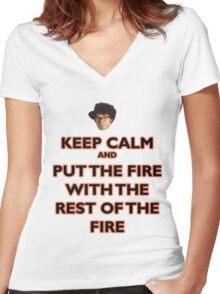Moss from the IT Crowd Women's Fitted V-Neck T-Shirt