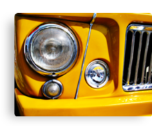 Yellow Willys Jeep Station Wagon headlight Canvas Print