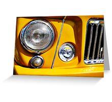 Yellow Willys Jeep Station Wagon headlight Greeting Card