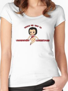 Annie: Teach Me How To Understand Christmas Women's Fitted Scoop T-Shirt