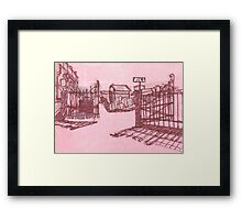 washington cemetery Framed Print