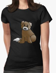 Cute Puppy Womens Fitted T-Shirt