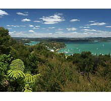 Russell.....from Flagstaff Hill, Bay of Islands, New Zealand. Photographic Print