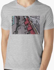 red canopy Mens V-Neck T-Shirt