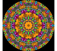 Color Blocks Kaleidoscope 01 Photographic Print