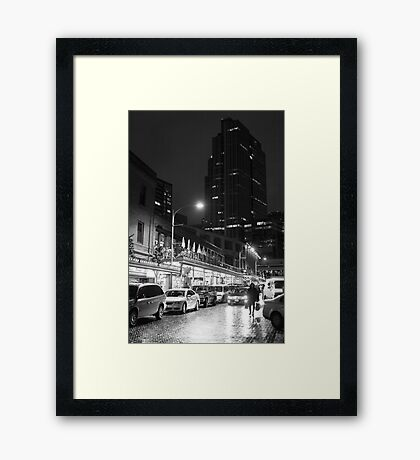 Night market (B&W) Framed Print