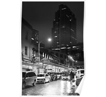 Night market (B&W) Poster