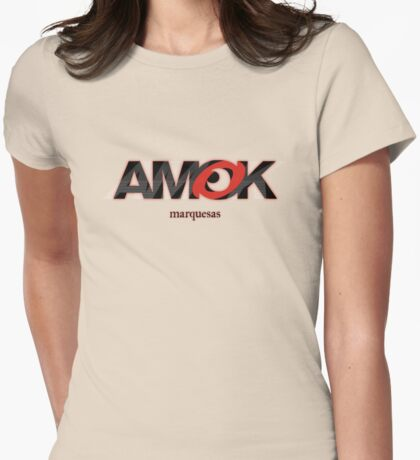 AMOK - marquesas Womens Fitted T-Shirt