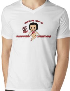 Annie: Teach Me How To Understand Christmas (Variant) Mens V-Neck T-Shirt