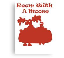 Room With A Moose Canvas Print