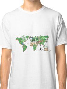 Super Mario World Map T - Shirt Classic T-Shirt