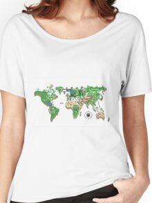Super Mario World Map T - Shirt Women's Relaxed Fit T-Shirt