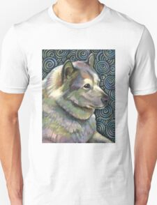 Alaskan Malamute and Akita Swirled Into One T-Shirt