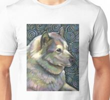 Alaskan Malamute and Akita Swirled Into One Unisex T-Shirt