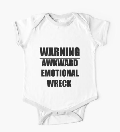 warning: awkward emotional wreck One Piece - Short Sleeve