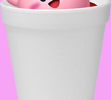 KIRBY IN MY DOUBLE CUP - LEAN (RENDER) by frictionqt