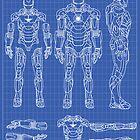 Iron Man Mark 7 Blueprints by nick94