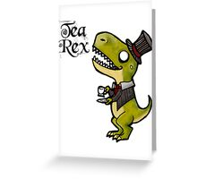 Tea Rex Greeting Card
