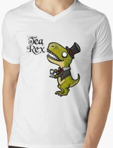 Tea Rex Mens V-Neck T-Shirt