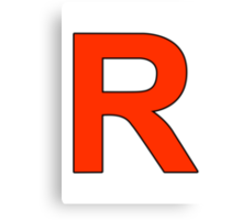 Team Rocket Logo Canvas Print