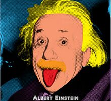 Albert Einstein with Pop Art Style by thejoyker1986