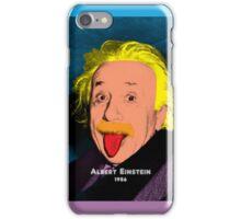 Albert Einstein with Pop Art Style iPhone Case/Skin
