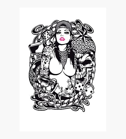 Swagg Tattoo Girl Photographic Print