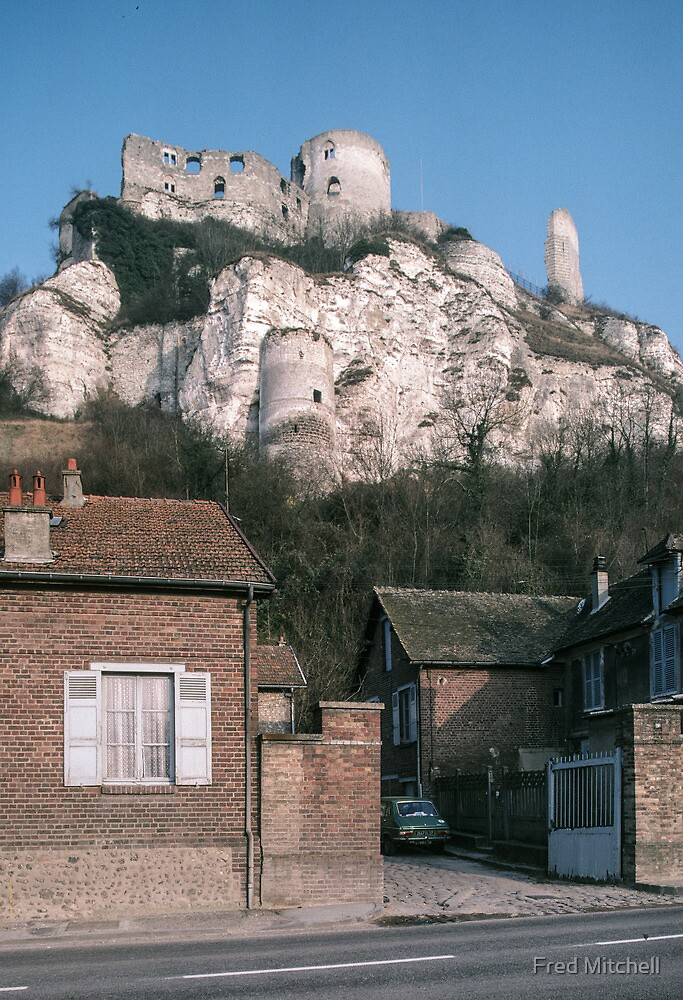 Castle Galliard above Les Andelays 19840216 0059 by Fred Mitchell