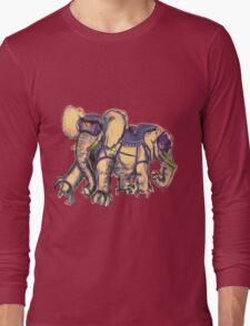Ancient Psychic Tandem War Elephant Long Sleeve T-Shirt
