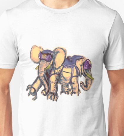 Ancient Psychic Tandem War Elephant Unisex T-Shirt