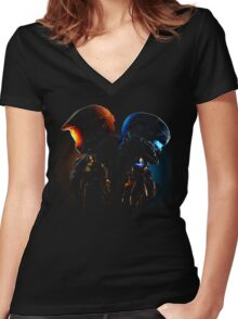 Halo Guardian Forces Women's Fitted V-Neck T-Shirt
