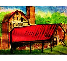 The old homestead, watercolor Photographic Print