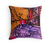 Van Goghs, Cafe, my version, watercolor Throw Pillow