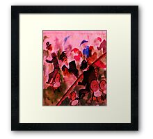 The luncheon, my version, watercolor Framed Print