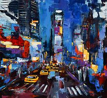 Saturday night in Times Square by Elise Palmigiani