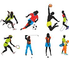 sport silhouettes Photographic Print