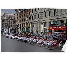 Barcelona By Bike Poster