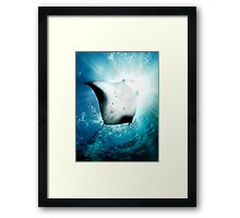 Sun Diver - Manta Framed Print
