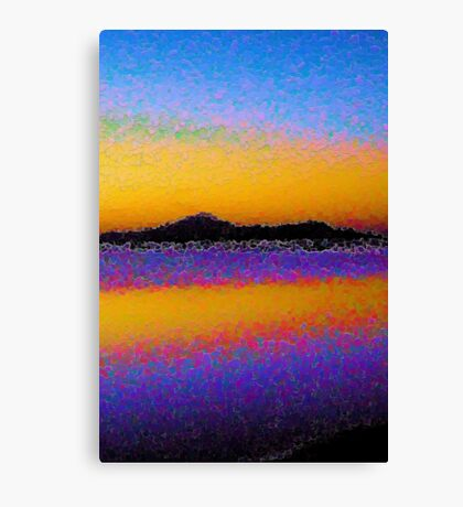 Abstract Beach Canvas Print