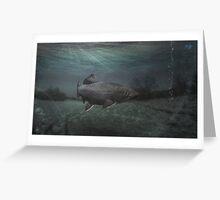 Fisheye Landscape. Greeting Card