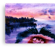 Must protect the nest, series, watercolor Canvas Print